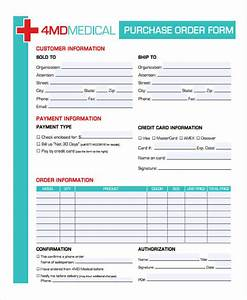 Purchase Order Format Sample Free 9 Medical Order Forms In Pdf