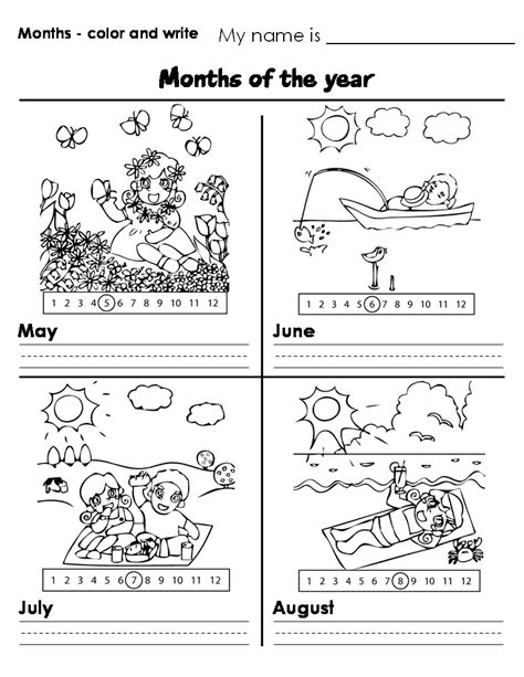 months worksheet new calendar template site