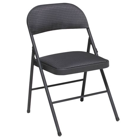 cosco home and office fabric seat back folding chair