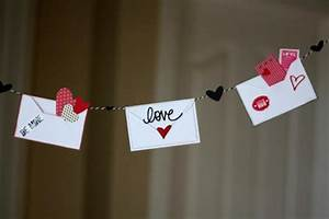 love letter valentine39s day bunting decoration With love letter decoration