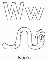 Worm Coloring Worms Alphabet Template Realistic Animal Whale Apple Animals Popular sketch template