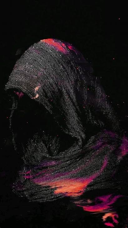 Lock Screen Dark Wallpapers Woman Iphone Hood