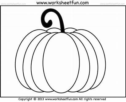 Pumpkin Worksheets Halloween Coloring Preschool Number Pumpkins