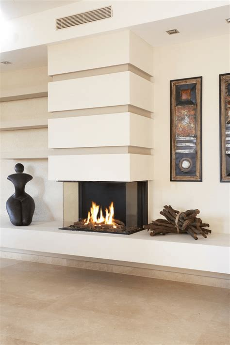 sided fireplace    design