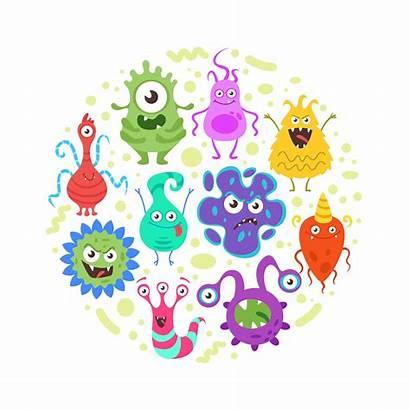Bacteria Cartoon Gut Monster Monsters Microbe Bad