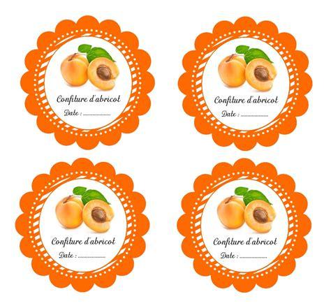 etiquettes imprimables pour pot de confiture d abricot