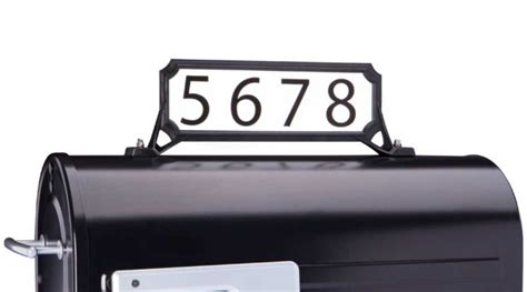 All manufactured mailboxes must meet the internal and external numbers must be positioned visibly on the front or flag side of the box. Curbside Mailbox House Number Plaque - Mounts To Mailbox, Post, or Pole