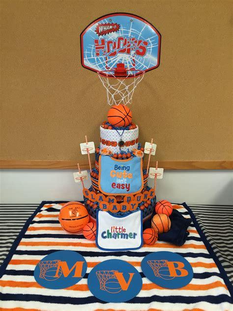 diaper cake basketball baby cakes   basketball