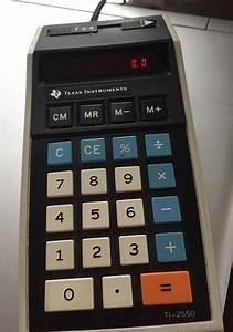 Texas Instruments Electronic Calculator W   Memory Ti