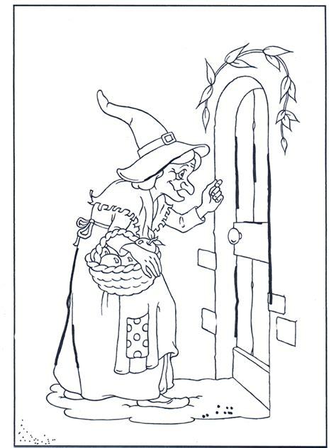 die hexe klopft  malvorlagen maerchen