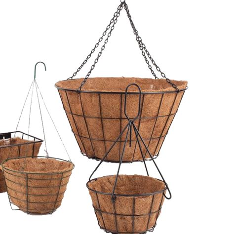 Planters glamorous 16 inch wire hanging baskets Hanging