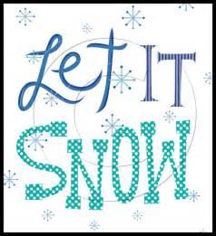 Let It Snow Clip Art