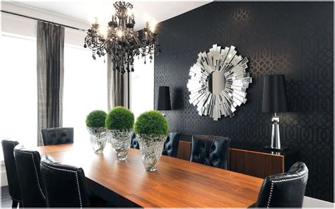 wall decor contemporary centerpieces for dining room fancy mirrors for modern dining room with black accent