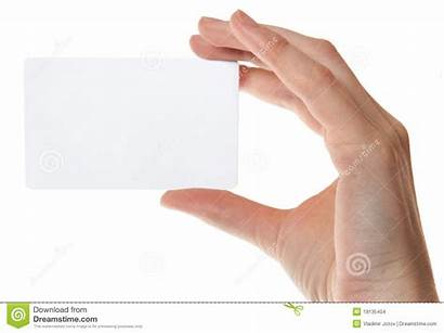 Card Hand Plastic Holding Empty Isolated Background