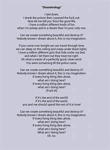 The gallery for --> Pierce The Veil Disasterology Lyrics