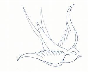 sparrow outline | tattoos | Pinterest