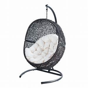 Fauteuil Suspendu Jardin : fauteuil de jardin sur pied en r sine marron cocon ~ Dode.kayakingforconservation.com Idées de Décoration