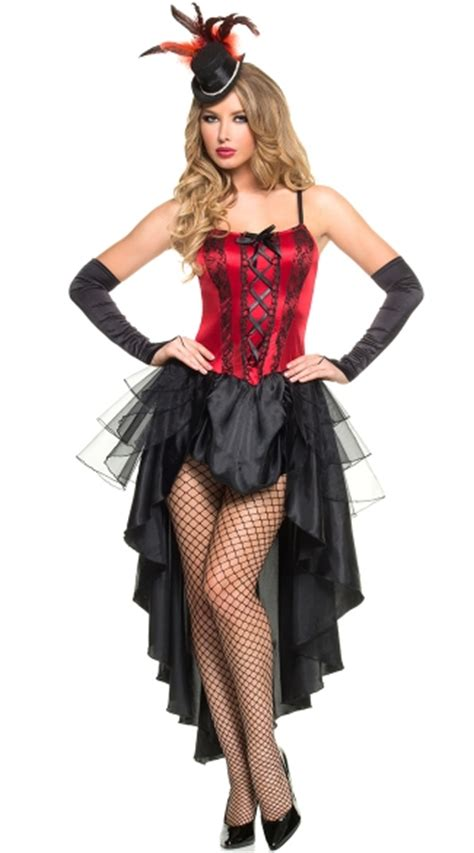 burlesque dancing beauty costume red  black burlesque