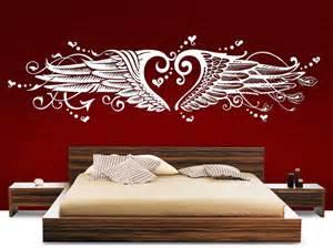 schlafzimmer wandtattoo wandtattoo schlafzimmer 1008w herz liebe engelsflügel hart zart wandtatoo ebay
