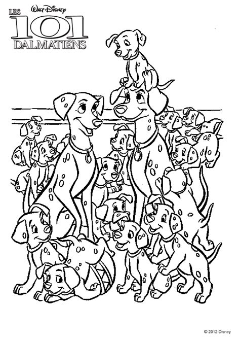 dictionnaire cuisine coloriage 101 dalmatiens famille pongo perdita sur