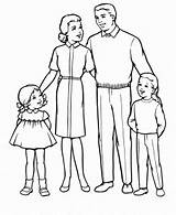 Coloring Parents Obeying sketch template