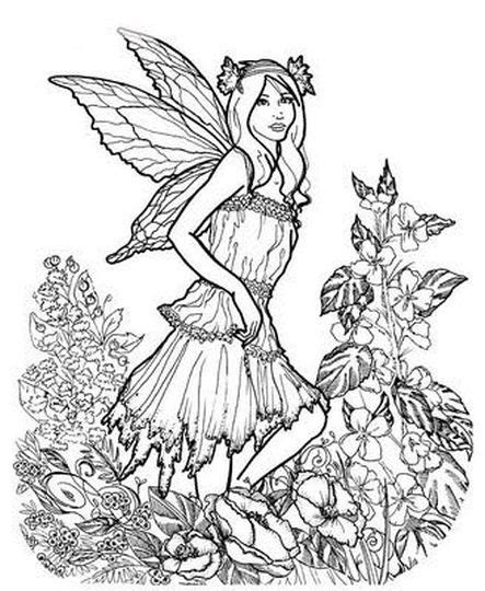 Coloring Pages For Adults Difficult Fairies Part 5