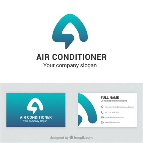 air conditioner company business card  vector