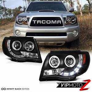 2011 Tacoma Parking Light Bulb 2005 2011 Toyota Tacoma Black Halo Led Projector