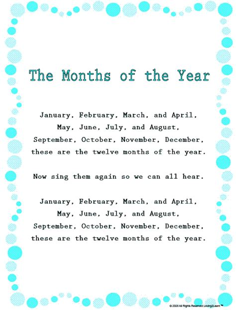 months of the year song for preschool the months of the year song and learn along 260