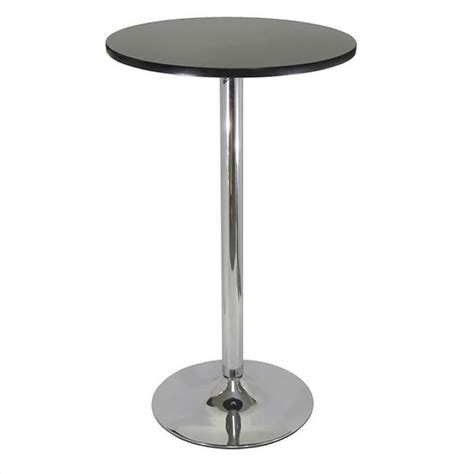 round bar height table winsome spectrum 24 quot round bar height black chrome pub