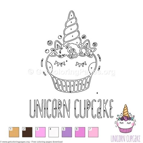 unicorn cupcake color  number  instant