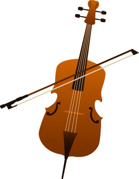 elegant cello design  clip art