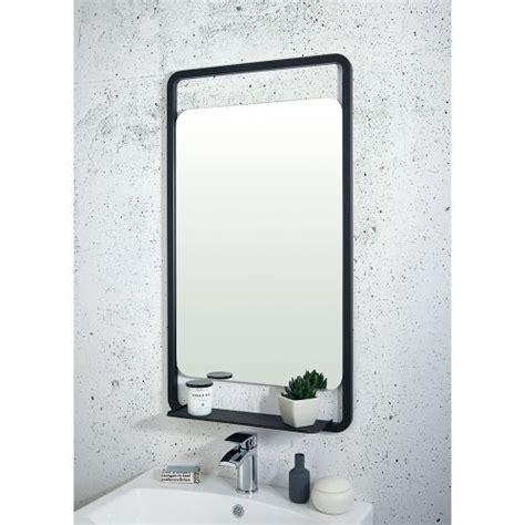 Black Bathroom Mirrors by Shield Mono Black Bathroom Mirror With Shelf