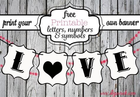 printable letters  banners