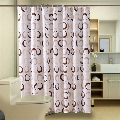 waterproof shower curtain fabric polyester free shipping