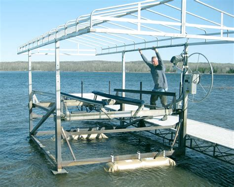 In Water Boat Lift by Boat Lift Maintenance Tips