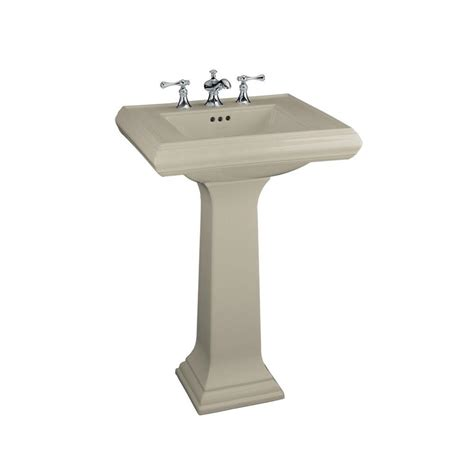 kohler porcelain kitchen sink kohler memoirs ceramic pedestal combo bathroom sink in 6698