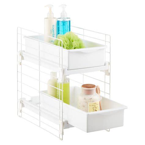 kitchen cabinet organizer racks iris sliding 2 drawer organizer the container 5616