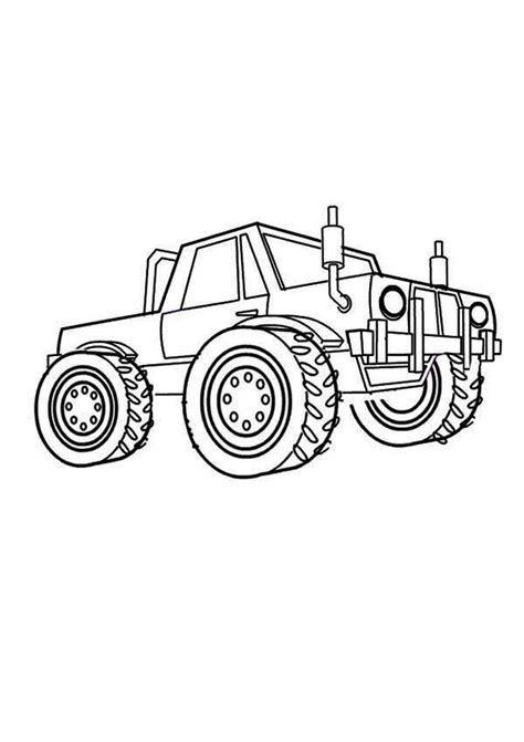 metal mulisha monster truck coloring page kids play color