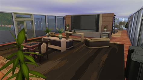 mansion living room with tv mod the sims reflections a large modern spacious mansion Modern
