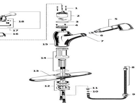 american standard faucet repair american standard kitchen faucet parts diagram