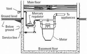 Diagram Of A Typical Inside Mercury Regulator And Meter
