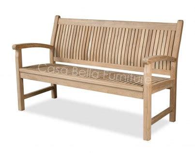 dorset teak garden bench casa bella furniture uk