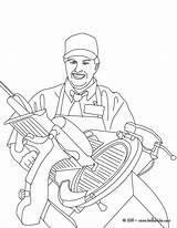 Hellokids Coloring Colorear Ham Imprimer Butcher Colorir Carne Dibujos Coloriage Ausmalen Zum Schlachter Trator Metier Carnicero Schneidet Schinken Coloriages Belle sketch template