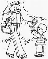 Coloring Pages Community Helpers Workers Helper Postman Students Fun Printable Preschool sketch template