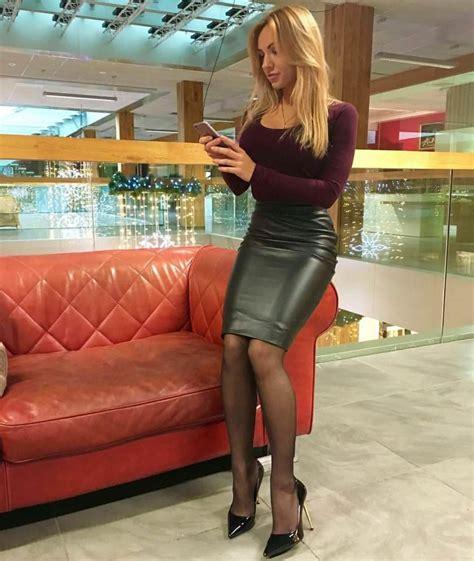 Sexy Leather Pencil Skirt Tiki2rude