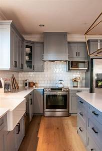 grey kitchen cabinets better white 2276