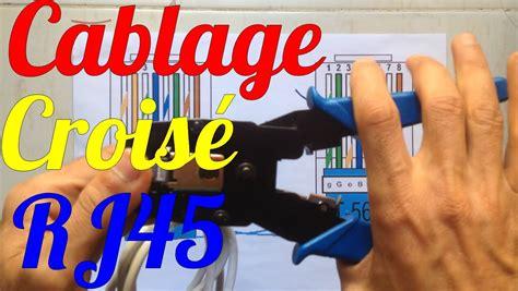 brancher prise rj45 murale cablage branchement crois 233 ethernet fiche rj45