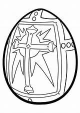 Easter Egg Religious Coloring Pages Printable A4 Categories sketch template