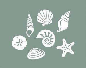 Wall decal best seashell wall decals seashells on walls for Best seashell wall decals